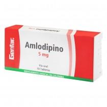 AMLODIPINO 5 MG 10 TABLETAS...
