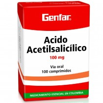 ACIDO ACETILSALICILICO 100...
