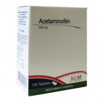 ACETAMINOFEN 500 MG 100 TBS...